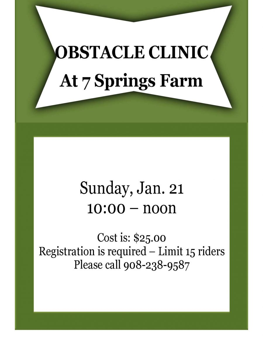7 Springs Farm Flyer (2018-01-21 - Obstacle Clinic)