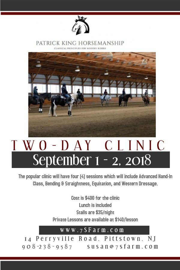 7 Springs Farm Flyer (2018-09-01 - Patrick King Clinic)
